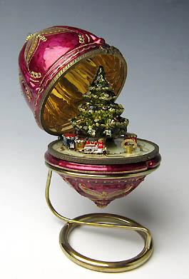 クリスマス雑貨 ポーランド製 オルゴールグラスオーナメント