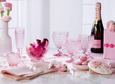 ビレロイ&ボッホ ペアワイングラス ピンク