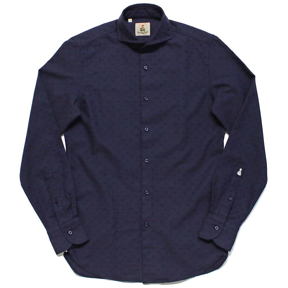 GUY ROVER(ギローバー)コットン ハート刺繍 ワイドカラーシャツ2