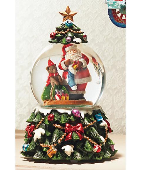 クリスマス スノードーム オルゴール