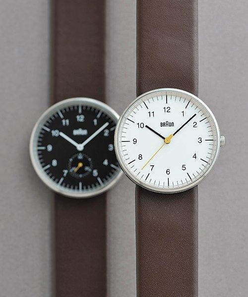 BRAUN Watch BN0021 ホワイト×シルバー×ブラウン 腕時計