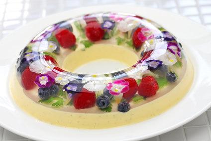 christmas wreath bavarois, homemade jelly dessert