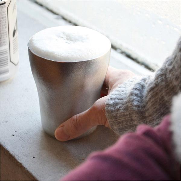 レムノス SHIROKANE 錫のビアカップ2