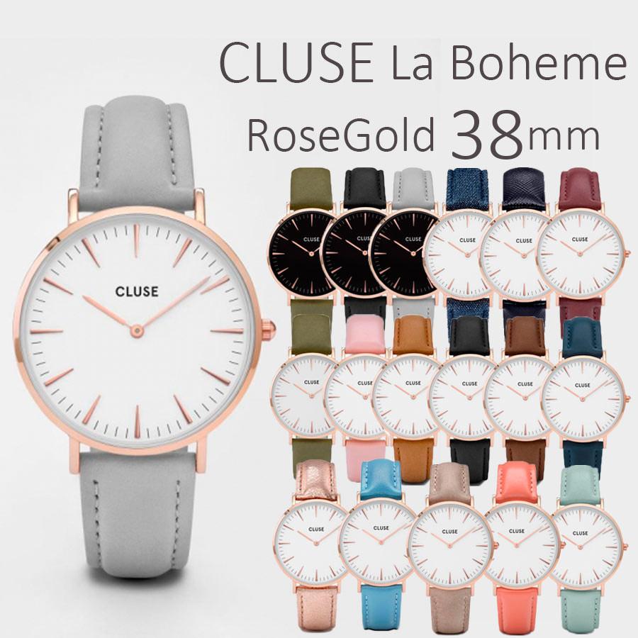 CLUSE 腕時計 クルース La Boheme(ラ・ボエーム) ローズゴールド