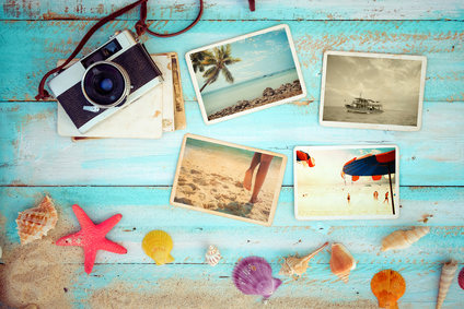 Vintage summer beach background