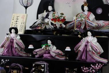 京小十番プラチナ帯親王五人三段飾り2