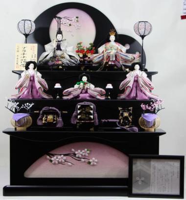 京小十番プラチナ帯親王五人三段飾り