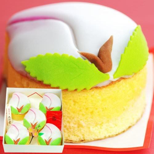 雛祭り 桃カステラ