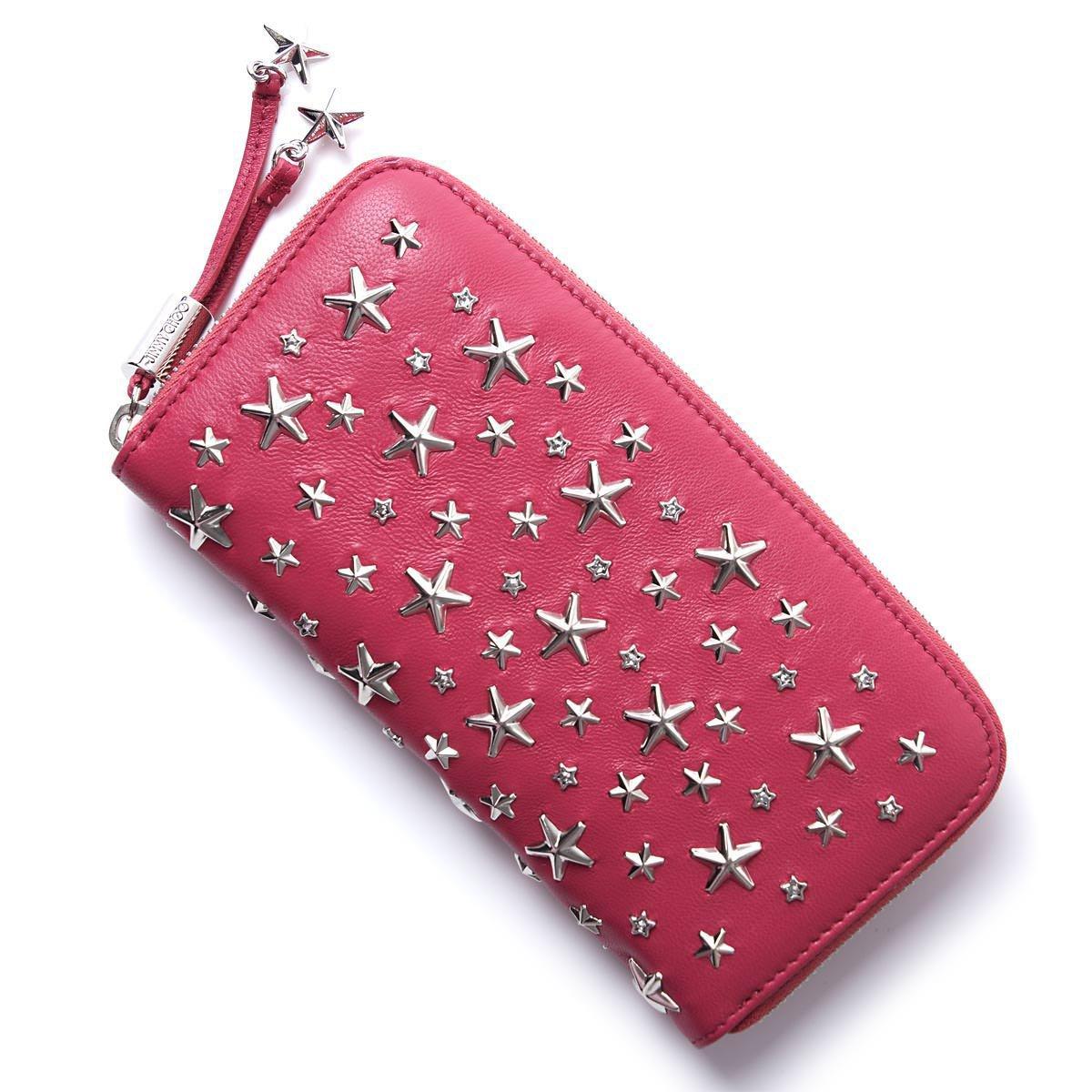 ジミーチュウ 財布 ピンク