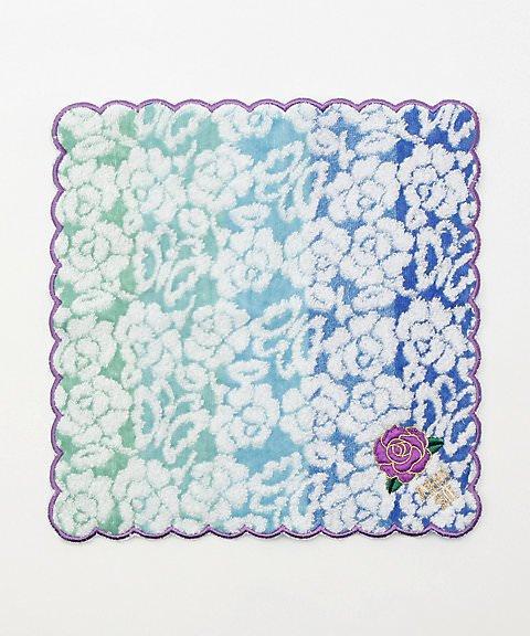 アナスイ バラ刺繍タオルハンカチーフ