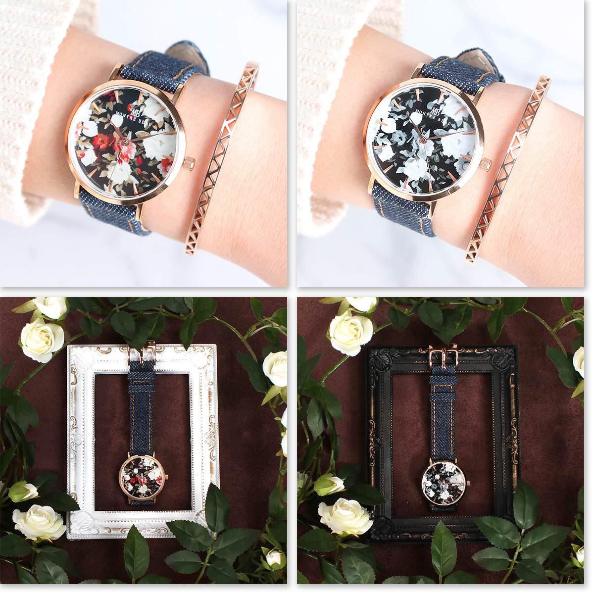 デニム素材ベルト 腕時計