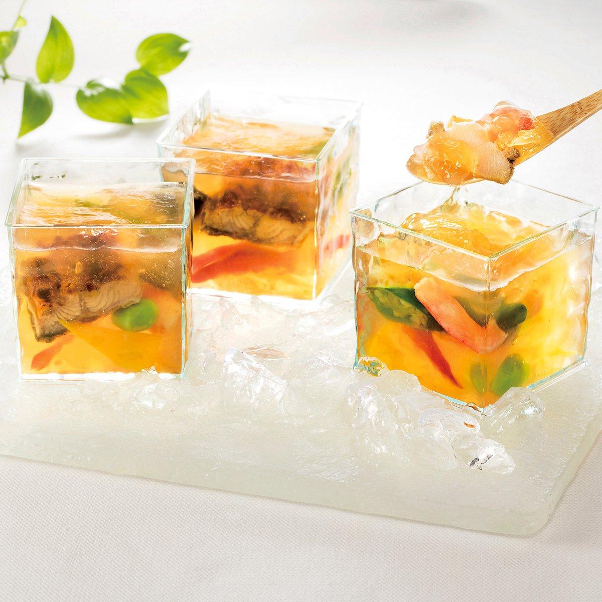 菊乃井,彩り野菜と魚介のゼリー寄せ