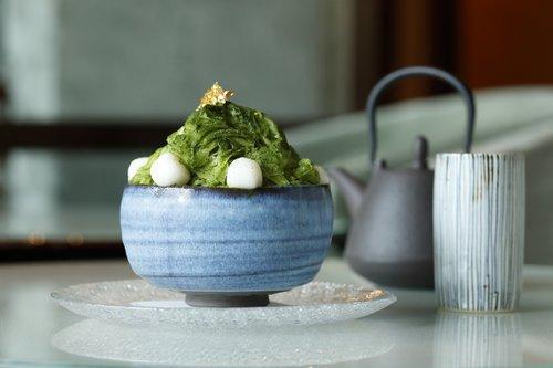 パレスホテル東京,抹茶&あずきのシェーブアイスと白玉