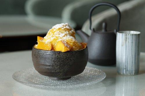 パレスホテル東京,マンゴー&ココナッツのシェーブアイスとヨーグルトクリーム
