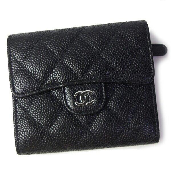 シャネル,三つ折り財布