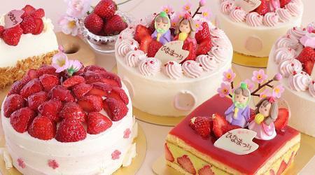 あまおうイチゴ,ひな祭りケーキ