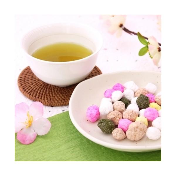 春の緑茶ティーバッグと和三盆