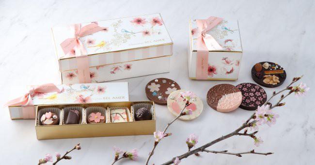 桜をイメージしたボンボンショコラ