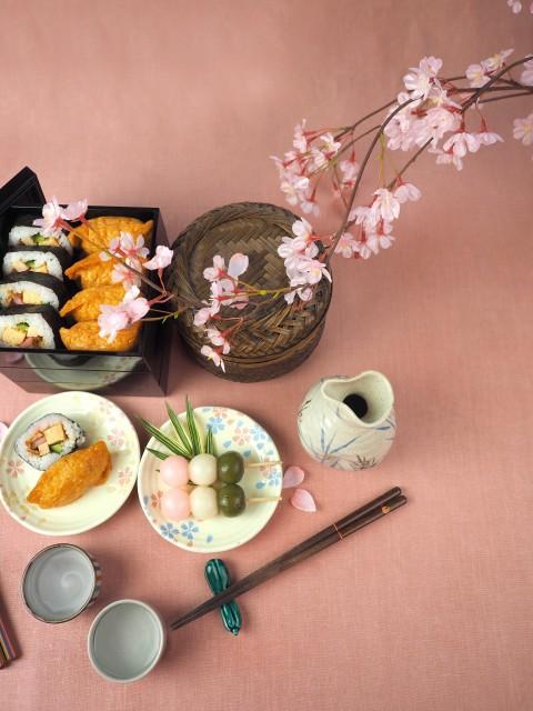 花見,寿司