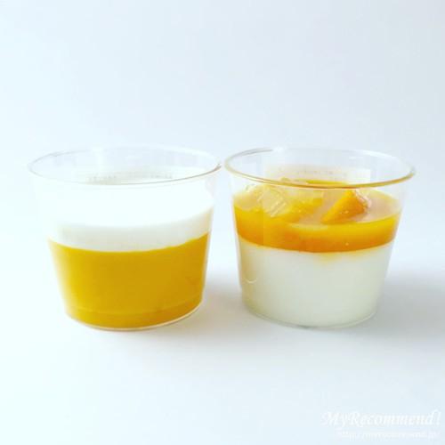 千疋屋総本店のマンゴープリンと絹ごし杏仁マンゴー