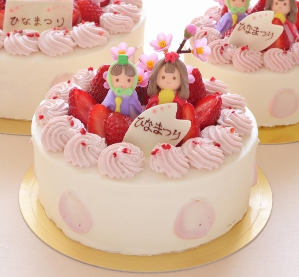 ラ・テールのひな祭りケーキ