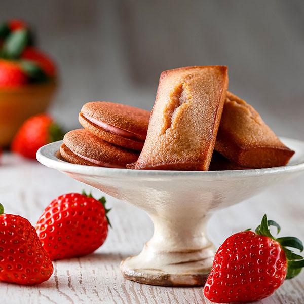 アンリ・シャルパンティエのいちごフィナンシェとクッキー