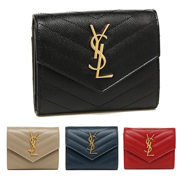 サンローランパリ,3つ折り財布