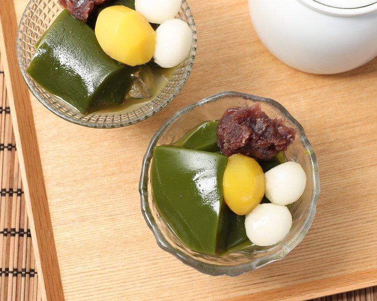 京都の宇治抹茶ゼリー