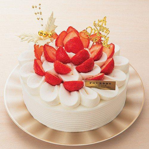ファウンドリー 静岡県産きらぴ香いちごと阿寒湖酪農家のクリスマスケーキ
