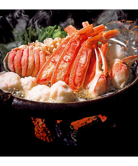 開花亭のずわい蟹姿鍋