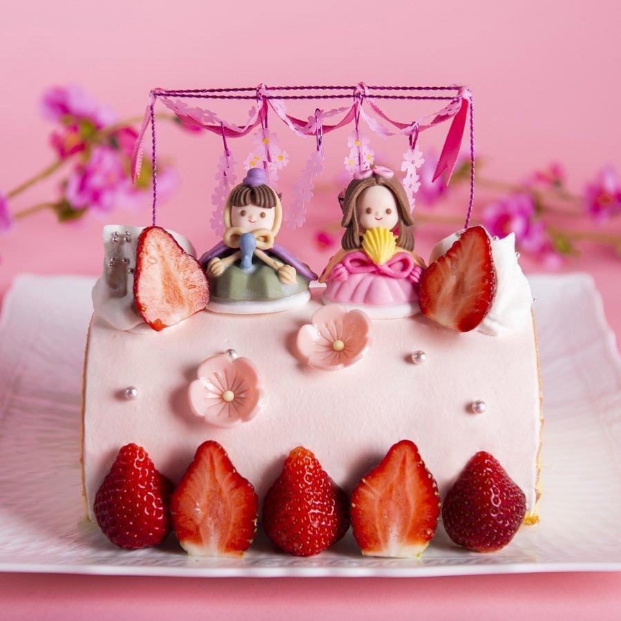 モンシェールのひな祭りケーキ