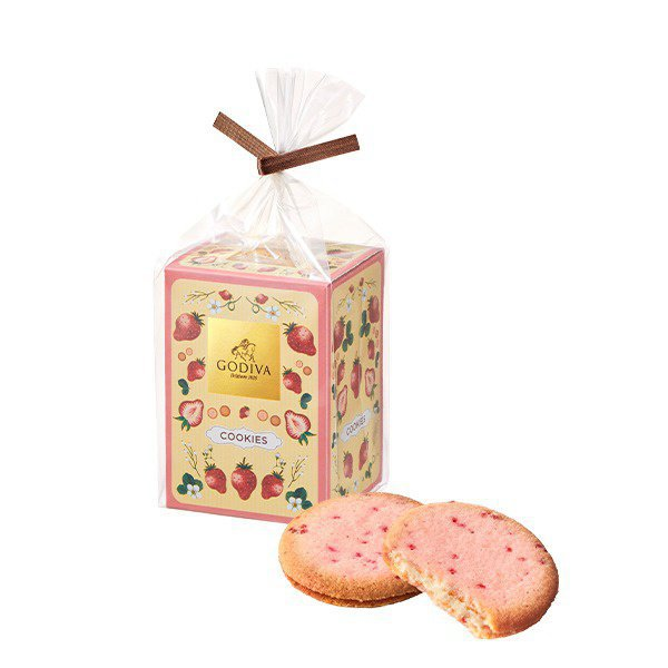 ゴディバのあまおう苺クッキー
