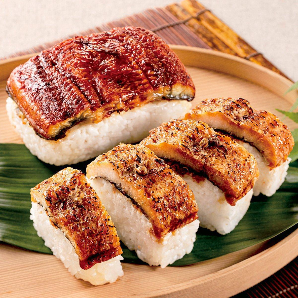 菊乃井,鰻と鱧の棒寿司