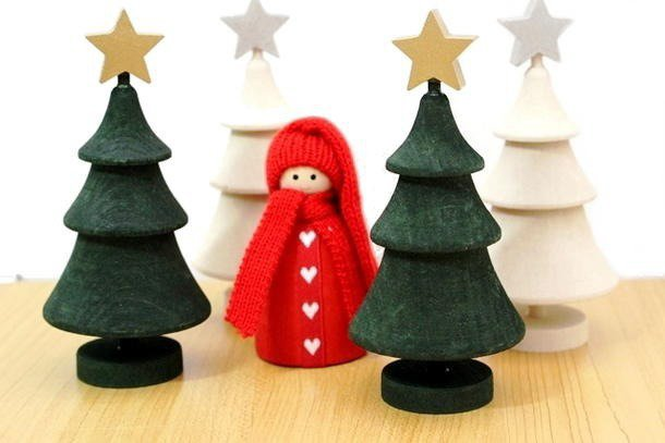 ラッセントレーのクリスマスツリー スター付き